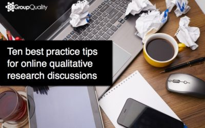 Ten tips for online qualitative research discussions