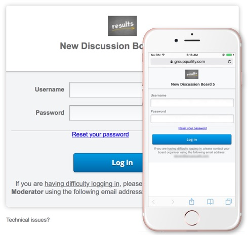 GroupQuality Discussion Board Login