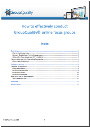 GroupQuality free online focus groups guide